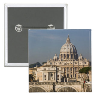 View of the dome of St Peter's Basilica with Pinback Button