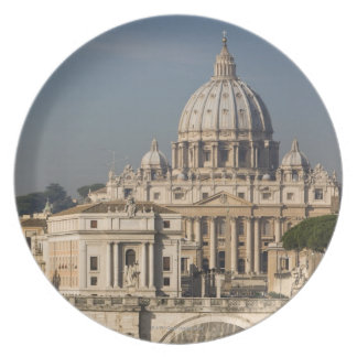 View of the dome of St Peter's Basilica with Dinner Plate