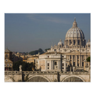 View of the dome of St Peter's Basilica with Poster