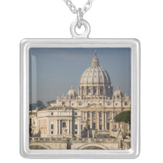 View of the dome of St Peter's Basilica with Square Pendant Necklace