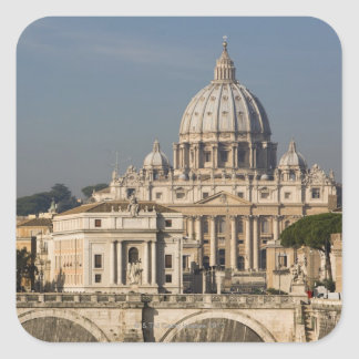 View of the dome of St Peter's Basilica with Square Sticker