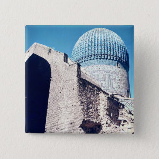 View of the dome, Timurid period, c.1403 Pinback Button