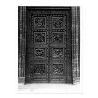 View of the door of La Madeleine Postcard