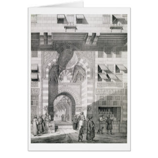 View of the Door of Okal Kaid-Bey, from 'Monuments Card
