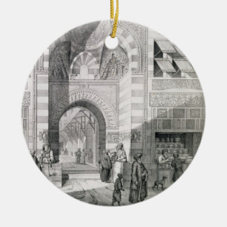 View of the Door of Okal Kaid-Bey, from 'Monuments Ceramic Ornament