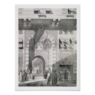 View of the Door of Okal Kaid-Bey, from 'Monuments Poster