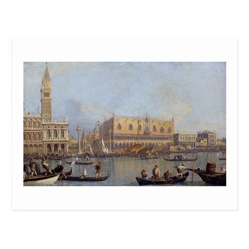 View of the Ducal Palace in Venice - Canaletto Postcard