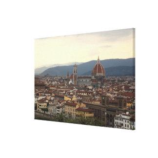 View of the Duomo Santa Maria Del Fiore in Canvas Print