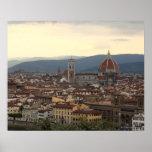 View of the Duomo Santa Maria Del Fiore in Poster