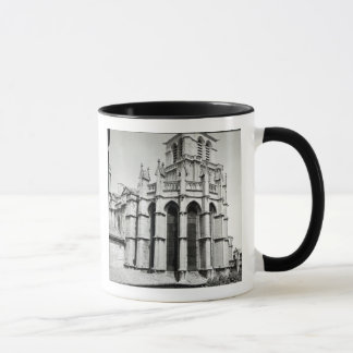 View of the east end of the church, built mug