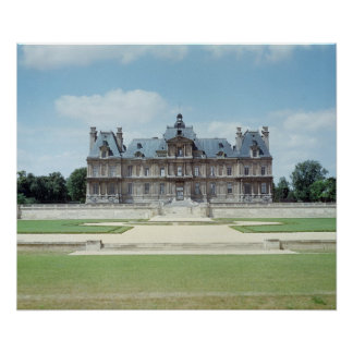 View of the East facade of Chateau de Maisons Poster