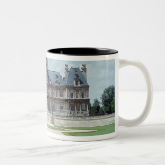 View of the East facade of Chateau de Maisons Two-Tone Coffee Mug