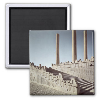 View of the east staircase of the Apadana 2 Inch Square Magnet