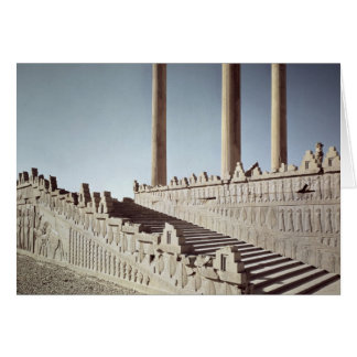 View of the east staircase of the Apadana Card