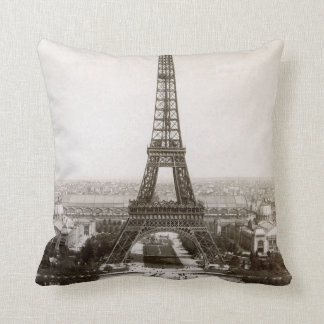 View Of The Eiffel Tower, 1900 Throw Pillow