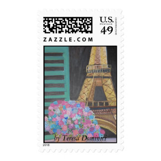 View of the Eiffel Tower Stamp