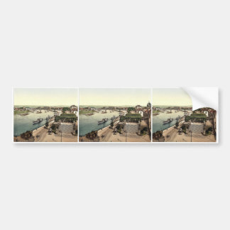 View of the Elbe and Bruhlsche Terrace, Altstadt, Car Bumper Sticker