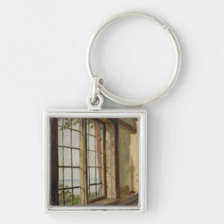 View of the Elbe through a Window, 1838 Keychain