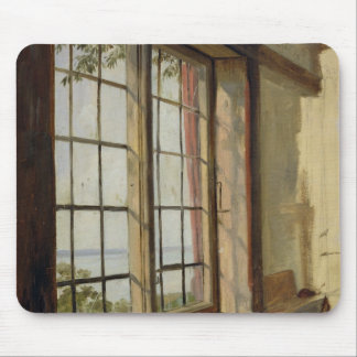 View of the Elbe through a Window, 1838 Mouse Pad