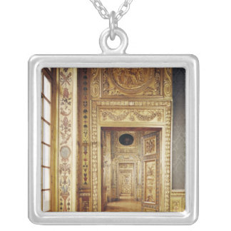View of the enfilade, 1650-58 silver plated necklace