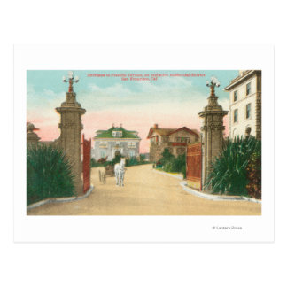 View of the Entrance to Presidio Terrace Postcard