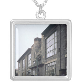 View of the exterior, built 1897-99 silver plated necklace