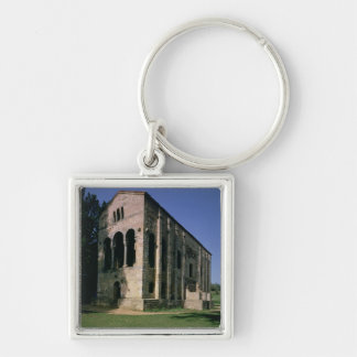 View of the exterior from the South-East Silver-Colored Square Keychain