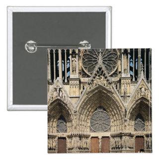 View of the facade, 13th-14th century button