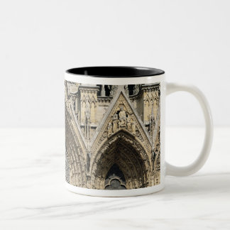 View of the facade, 13th-14th century Two-Tone coffee mug