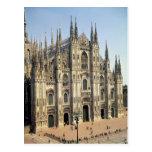 View of the facade, begun 1386 postcard