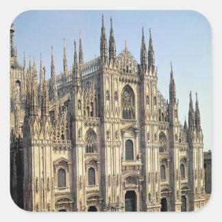 View of the facade, begun 1386 square sticker