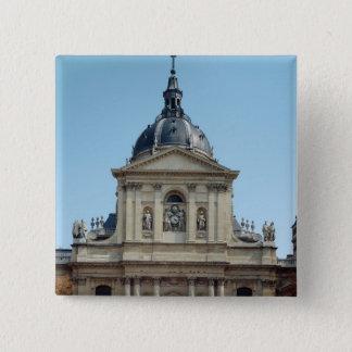 View of the facade, built 1635-42 pinback button