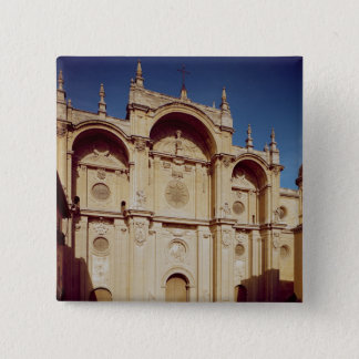 View of the facade, completed in 1667 pinback button
