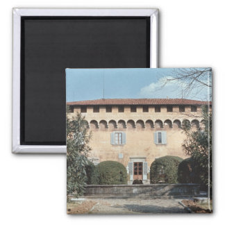 View of the facade, designed for Cosimo 2 Inch Square Magnet