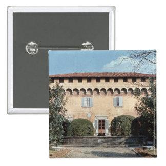View of the facade, designed for Cosimo Pinback Button