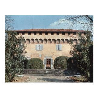 View of the facade, designed for Cosimo Postcard