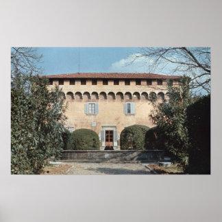View of the facade, designed for Cosimo Poster