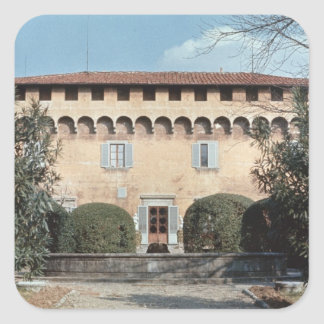 View of the facade, designed for Cosimo Square Sticker