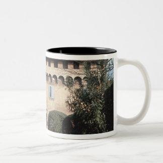 View of the facade, designed for Cosimo Two-Tone Coffee Mug