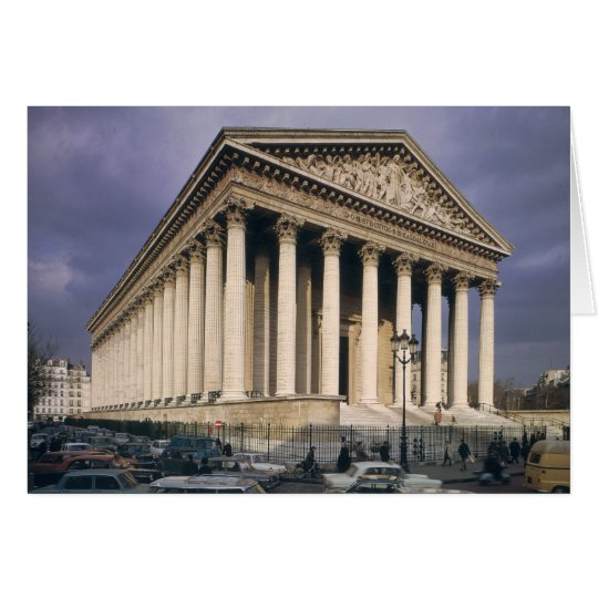 View of the facade of La Madeleine Card