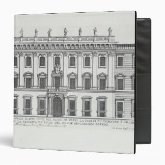 View of the facade of Palazzo Chigi, Rome, designe 3 Ring Binder
