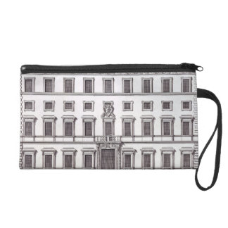 View of the facade of Palazzo Marchese, Rome, desi Wristlet Purse