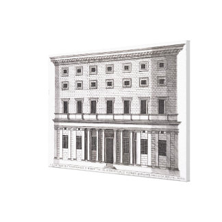View of the facade of Palazzo Massimi alla Valle, Canvas Print