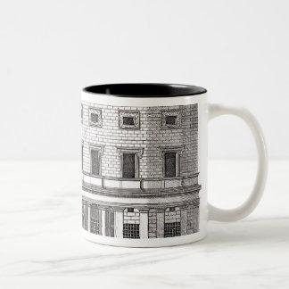 View of the facade of Palazzo Massimi alla Valle, Two-Tone Coffee Mug
