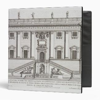 View of the facade of Palazzo Senatorio in Piazza 3 Ring Binder