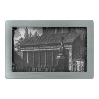 View of the facade of the Basilica of St. Cross Belt Buckle