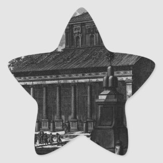 View of the facade of the Basilica of St. Cross Star Sticker