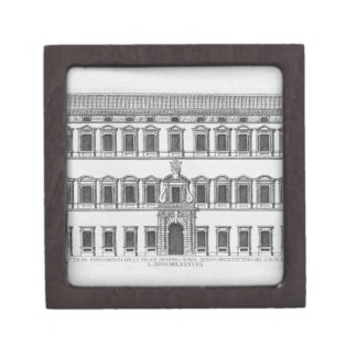 View of the facade of the Lateran Palace, Rome, co Jewelry Box