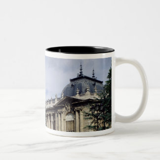 View of the facade of the Petit-Palais Two-Tone Coffee Mug