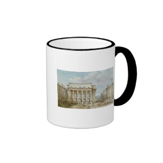 View of the Facade of the Theatre Italien Ringer Coffee Mug